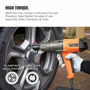 VonHaus 8.5 Amp half -inch Electric Impact Wrench with high torque