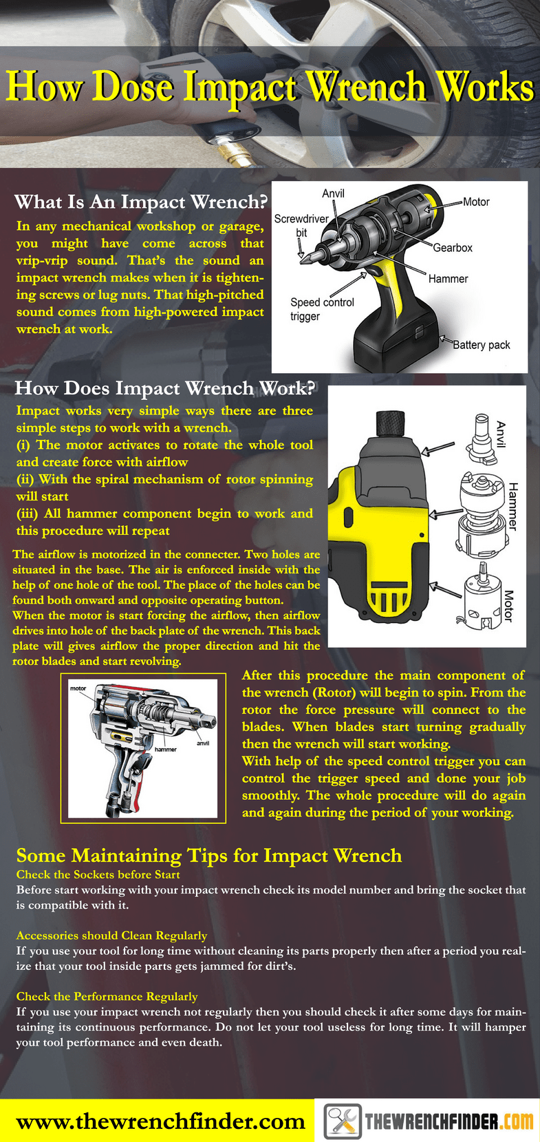 How does an impact wernch work