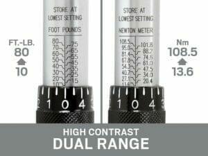 high contrast dual range 10-80 ft lb