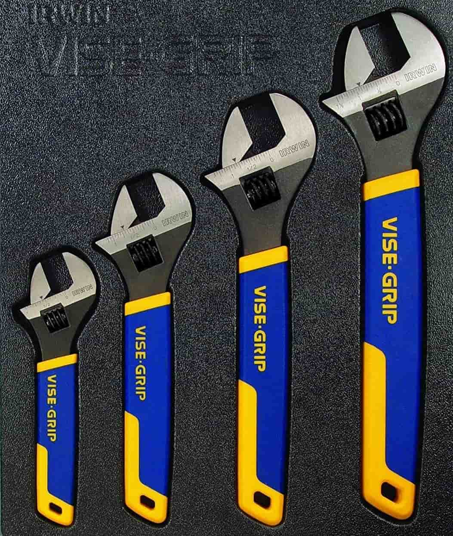 GRIP Adjustable Wrench Set