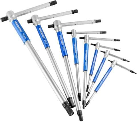 Powerbuilt 8 Pc Metric T-Handle Hex Allen Key Wrench